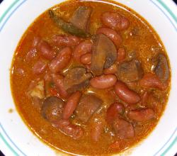 Mushroom and Rajma Curry